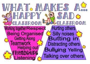 What makes a happy/sad classroom...