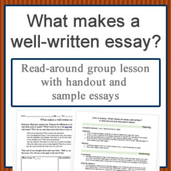 What makes a well-written essay? A read-around group lesson
