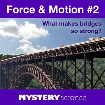 Forces&Motion NGSS:Bridge Engineering ❤ BUNDLE:Activity, Reading,Assessment—SALE