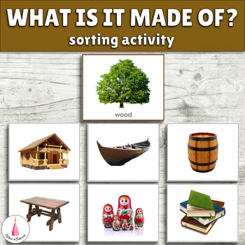 What material is it made of? Montessori Sorting Cards