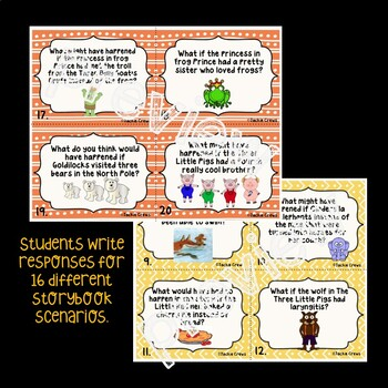 What might have happened if... Whimsical Storybook Task Cards to Teach Logic