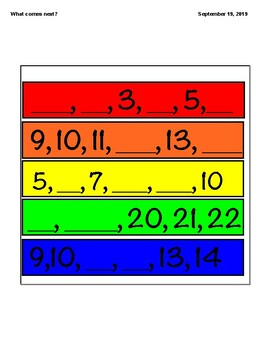 what number comes next in the series