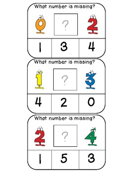 What number is missing (numerical order) clothespin activity cards