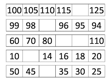 Qué número sigue?  What number comes next?  Number patterns