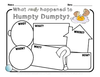 What really happened to Humpty Dumpty? - creative writing or drawing prompt