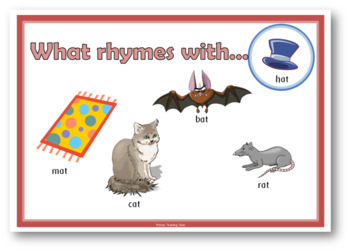 What rhymes with ....?  A set of rhyme time posters for Kindergartem