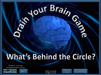 What's Behind the Circle? - A PowerPoint Drain Your Brain Game