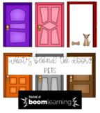 What's Behind the Door? Pets Boom Cards Deck