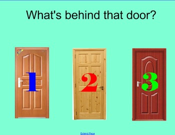 What's Behind that Door SmartBoard Review Game-Measurement