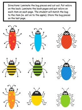 What's Bugging You? Color Matching Adapted Book for Preschool and Kindergarten