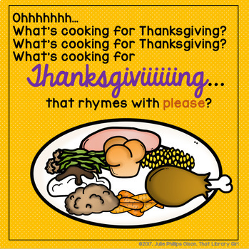 What's Cooking for Thanksgiving?! a Rhyming Game