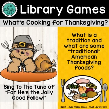 What's Cooking for Thanksgiving?! - a Thanksgiving Activity for Library Time