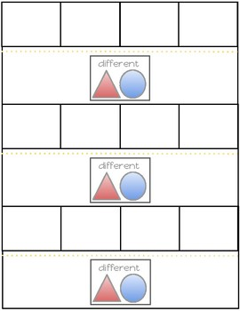 What's Different? Interactive Back to School Task Cards