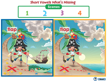 Word Families Short Vowels: What's Different - MAC Gr. PK-2