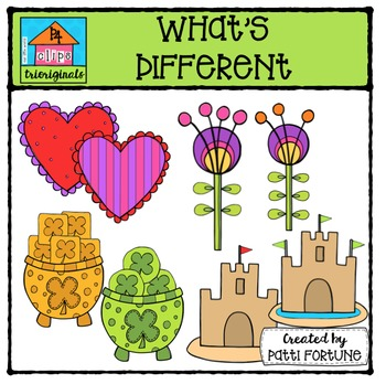 What's Different  (P4 Clips Trioriginals Digital Clip Art)