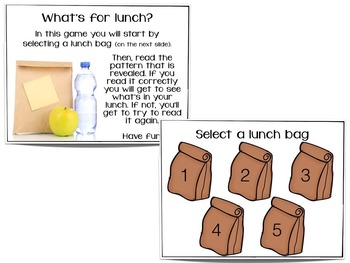 What's For Lunch?  A Bundled Set of Games for Rhythmic Practice