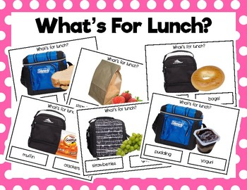What's For Lunch? Clip Cards