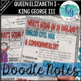 Queen Elizabeth I - King George III and the 13 Colonies (1