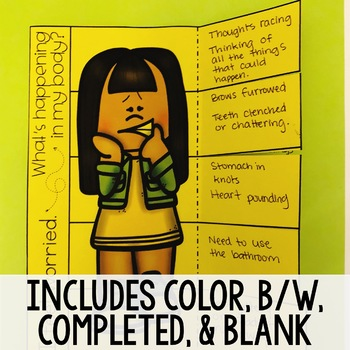 Coping Strategies/Emotion Identification Lift a Flap Book for School Counseling