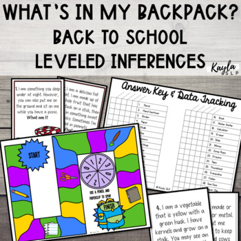 What's In My Backpack {Back-to-School Inferencing}