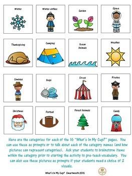 Social Skills Winter Inferences Vocabulary
