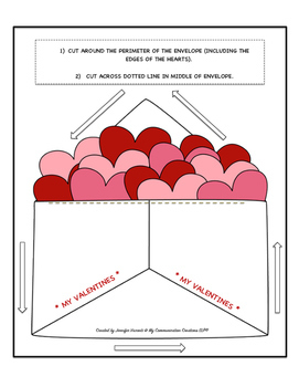 What's In My Envelope? Valentine's Day Speech Therapy Activity - Medial /V/