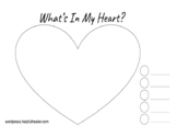What's In My Heart? Free SEL Worksheet Identifying and Expressing Feelings