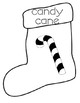 What's In My Stocking? Vocabulary Book Black and White
