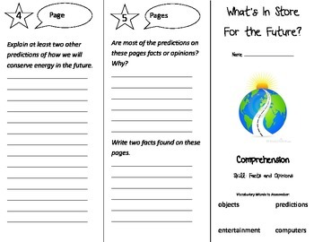 What's In Store For the Future Trifold - Treasures 3rd Gr Unit 2 Week 3 (2009)