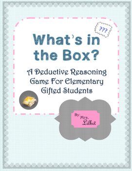 What's In The Box? Deductive Thinking Game