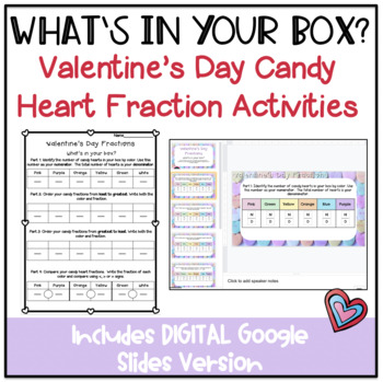 What's In Your Box? Fraction Activities for Candy Hearts