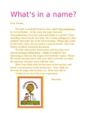 What's In a Name? Chrysanthemum Activity