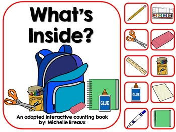 What's Inside- A Back to School Adapted Book {Early Childhood, Autism, SLP}