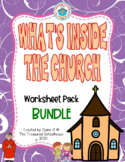 What's Inside the Church Worksheet Pack BUNDLE