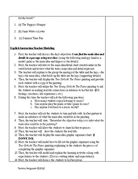 What's It All About Main Idea Lesson Plan