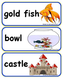 What's It Like to Be a Fish? Vocabulary Words and Pictures