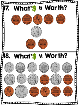 What's It Worth? (A Coin Counting Scoot Activity!)