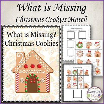 What's Missing? Binder Christmas Cookies and Name Match