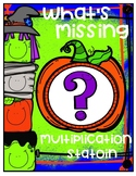 What's Missing Multiplication Station Temporary Freebie