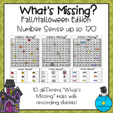 What's Missing? Number Sense up to 120- Fall/Halloween Edition