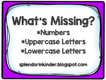 What's Missing (Numbers, Alphabet)
