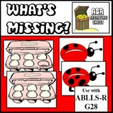 What's Missing? Tacts, Labels missing items- Autism Use with ABLLS-R G28