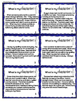 Character Trait Scoot Card Game