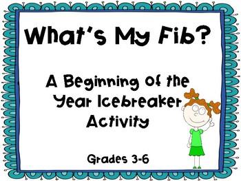 What's My Fib?  A Back-To-School Icebreaker