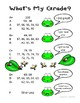 Grading Scale - What's My Grade? Frog / Pond Theme