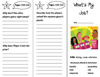 What's My Job? Trifold - Storytown 2nd Grade Unit 4 Week 5