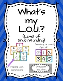 What's My L.O.U. (Level of Understanding) Posters and Flipcards