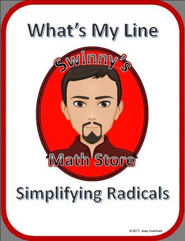 What's My Line: Simplifying Radicals