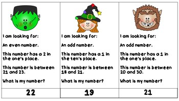 What's My Number ( 0-100)? -Halloween Math Edition