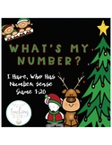 Christmas Themed What's My Number, Number Sense Game